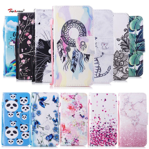 TopArmor Shell For Samsang A8 2018 (A5 2018) A530 Flip Stand Cover For Samsang A8 PLUS 2018 (A7 2018) A730 Phone Case Skin Bags