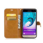 TopArmor Denim+PU Cover For Samsung Galaxy J3 J5 (2016) J310 J510 Cover Flip Stent Wallet Shell For Samsung J310 J510 Phone Case