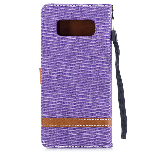 TopArmor Denim+PU Cover For Samsung Galaxy Note8 N950F Bags Flip Stent Wallet Shell For Samsung Note8 Note 8 Phone Case Coque