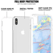 Transparent Geometric Marble Phone Case For IPhone X XS Max XR PU Soft Silico Case For IPhone 6 6S 7 8 Plus Deluxe Painted Shell