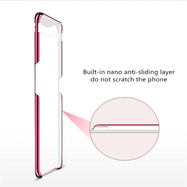 Transparent PC Phone Case For OPPO Find X Luxury Hard PC Magnetic Lifting Head Protection Back Cover For OPPO Find X Case Fundas