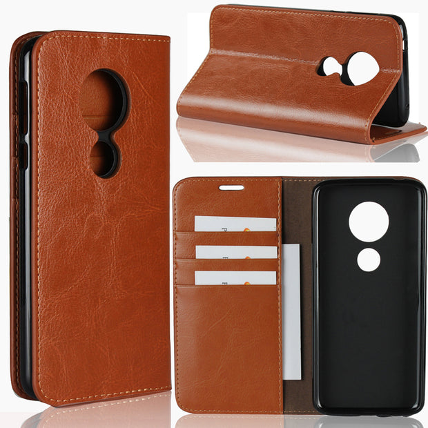 Uftemr Geniune Leather Silicone For MOTO E5 Flip Cover Wallet Funda Business Style For MOTO E5 Plus Mobile Phone Cases Silicone