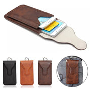 Universal Phone Case Belt Clip Dual Pouch Credit Card Bag Holster Flip PU Leather Wallet Case For Smartphone 5.8 Inch