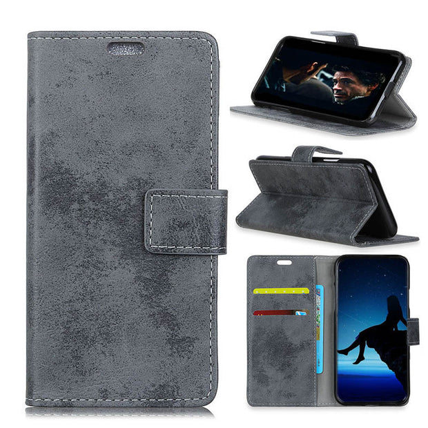Vintage Matte Retro PU Leather Flip Cover Case For Nokia 3.1 Plus Magnetic Snap Wallet Card Money Slot Stand Case For Nokia X3