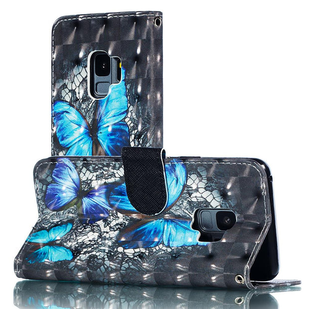 Wallet 3D Flower Cover Leather Case For Huawei Mate 20 Lite P20 P30 Pro Honor 7C Pro 7A 8X 8C 9 10 Lite Y5 Y6 Prime Y9 Phone