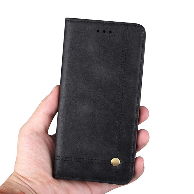 Wallet Case For Huawei P20 Lite Flip PU Leather Case For Huawei Nova 3e Business Style Wallet Cover Card Slots Phone Bag Cases