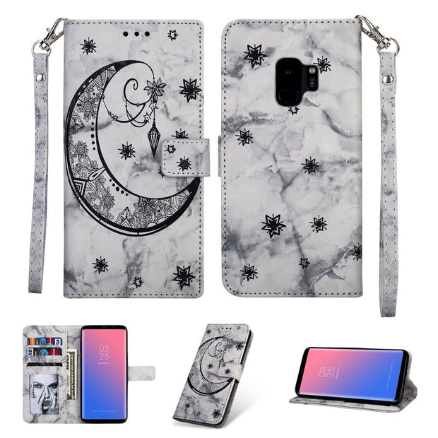 Wallet Flip Magnetic Stand Strap Phone Case For Samsung Galaxy Note 9 8 S9 Plus S8 S7 S6 Edge S5 A6 A8 Plus 2018 A5 2017 Cover