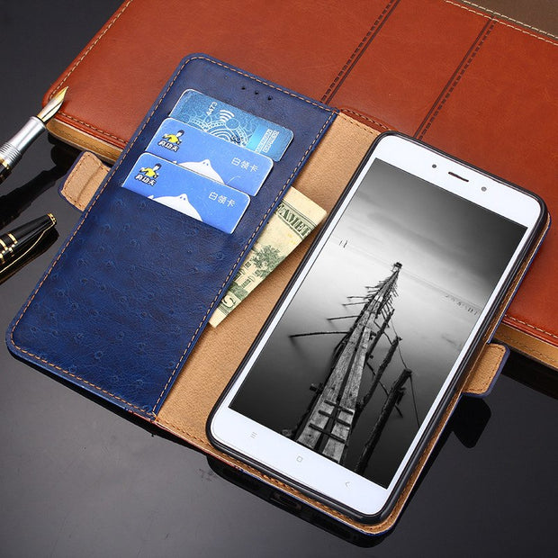 Wallet Phone Case For Samsung J7 Plus J7 2018 Case Cover Smartphone Cover Flip Double Splice Leather For Samsung J7plus J72018
