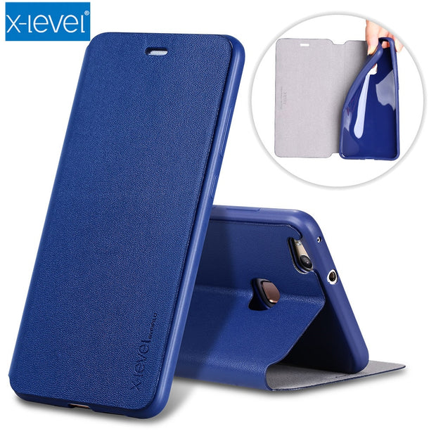 X-Level Luxury Business PU Leather Case For Huawei Mate 8 9 10 Pro Flip Cover Huawei P20 P10 P9 Lite Mate RS Nova 3i Stand Case