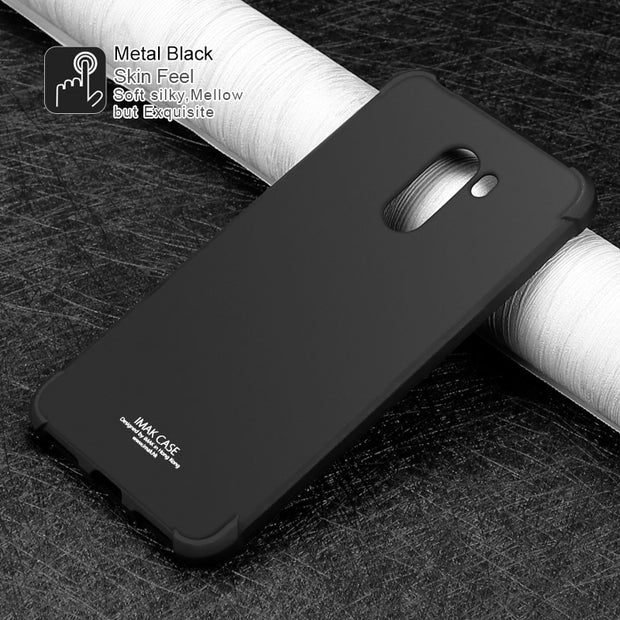 Xiaomi PocoPhone F1 Case PocoPhone F1 Cover IMAK Shock-Resistant Soft TPU Back Cover Case For Xiaomi Poco F1 With Film