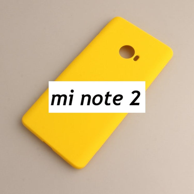 "Xiaomi Mi Note 2 Minote2 Matte Simple Colorful Fashion Style Phone Case 5.7"" Solid Color Cover"