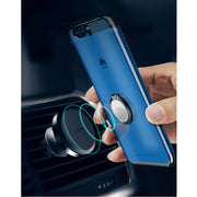 Xundd Luxury Metal Ring Holder Case For Huawei P10 P10 Plus Super Clear Back Cover For P10 Case Fit With Magnetic Car Holder