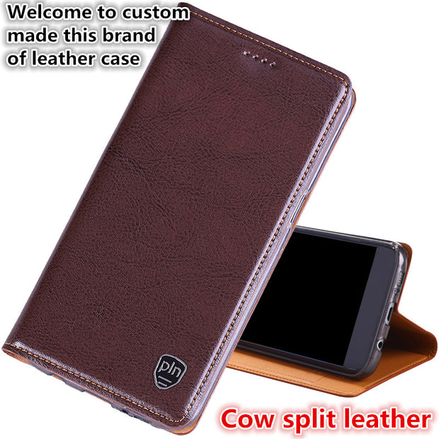 YM04 Magnetic Genuine Leather Phone Cover For Motorola Moto Z3 Play(6.0') Phone Case For Motorola Moto Z3 Play Phone Bag