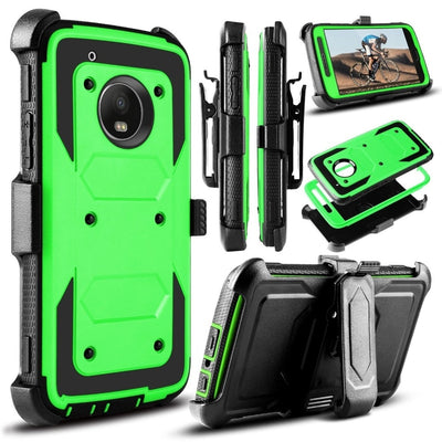 YUMQUA Funda Capa Shell For Motorola Moto Z2 Force XT1710 2017 /Moto Z2 Play Cases Cover Full-Body Rugged Holster Belt Clip