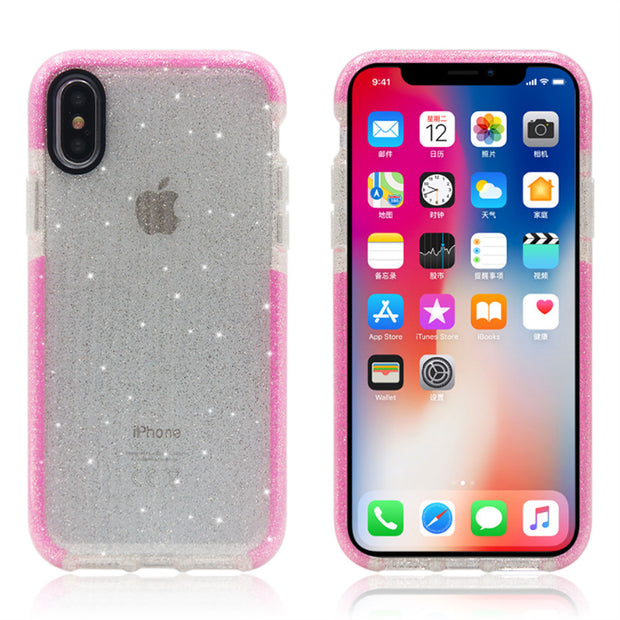 YX002 Case For IPhone 8 7 6 6s Plus, Transparent TPU Silicone For IPhone Cover Coque For IPhone7 Cases Water Ripple Glitte