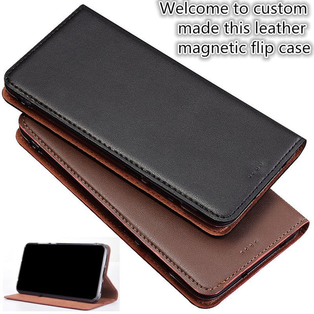 ZD03 Business Style Genuine Leather Flip Case For OPPO R15 Dream Mirror Case For OPPO R15 Dream Mirror Phone Bag Free Shipping
