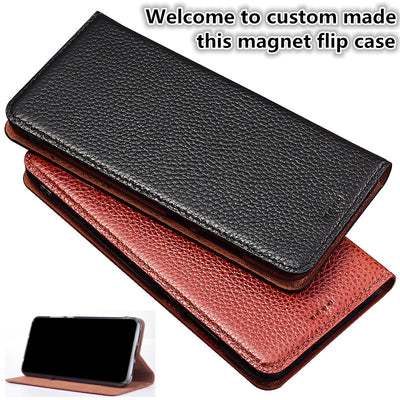 ZD16 Genuine Leather Flip Case With Card Holder For OPPO R15 Dream Mirror Phone Case For OPPO R15 Dream Mirror Phone Bag