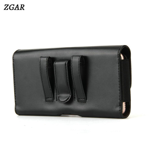 ZGAR Cases For Huawei Nova 2S Nova2S Plain PU Leather Covers Holsters Clips Wasit Bags Phone Cases For Huawei Nova 2S Holders
