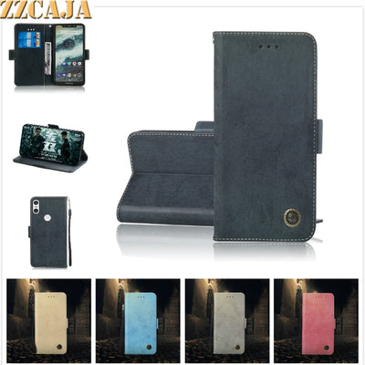 ZZCAJA Coque For Motorola One P30 Play Cases Cute Retro Bag Luxury Magnet Wallet PU Leather Flip Cover For Moto G6 G5s E5 Plus