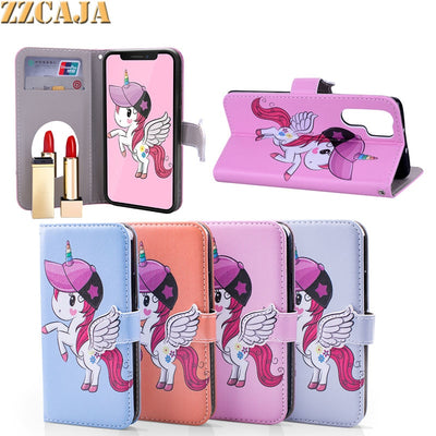 ZZCAJA For Huawei P30 Pro P20 Lite Case Luxury Cute Animal PU Leather Wallet Flip Mirror Cover For Mate 20 Pro 10 Lite Nova 3 3i