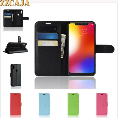 ZZCAJA For Motorola Moto One Case Luxury Wallet Style With Card Slot Flip Stand PU Leather Cell Phone Cover For Moto P30 Play