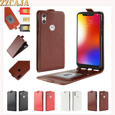 ZZCAJA For Motorola One Case Business Style With Card Slot Luxury PU Leather Flip Phone Cover For Motorola P30 Play Fundas Coque
