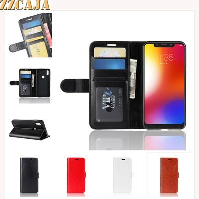 ZZCAJA For Motorola One Case Luxury Wallet Card Slot Magnet PU Leather Business Flip Stand Phone Cover For Moto P30 Play Fundas
