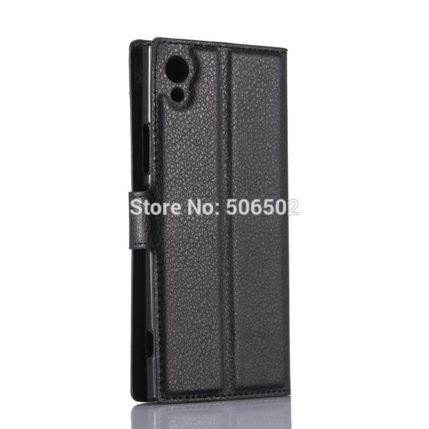 ZZCAJA For Sony Xperia XA1 Case High Quality Luxury Wallet Style Card Slot Flip Stand PU Leather Cell Phone Cover For Sony XZs