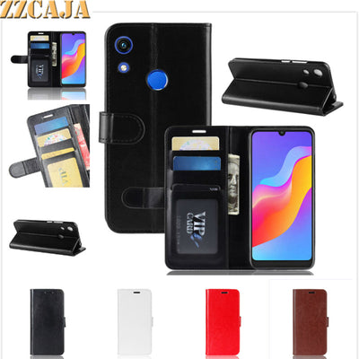 ZZCAJA Shell For Huawei Honor 8A View V20 Case Luxury Business Bag PU Leather Wallet Flip Phone Covers For Enjoy 9 Y7 Prime 2019