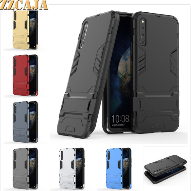 ZZCAJA Shell For Huawei Honor Magic 2 Case Luxury Dual Layer Shockproof Kick Stand Slim Phone Cover For Honor Magic 2 Bag Fundas