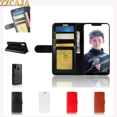 ZZCAJA Shell For Huawei Honor Play Cases New Luxury Business PU Leather Bag Wallet Mobile Phone Flip Cover For Honor Play Fundas
