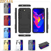 ZZCAJA Shell For Huawei Honor V20 Case Luxury 2 In 1 Dual Layer Shockproof Kick Stand Slim Back Phone Cover For Honor V20 Fundas