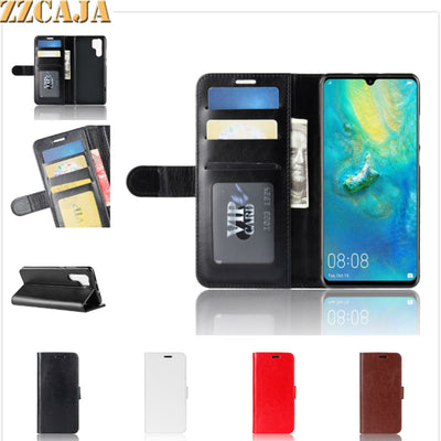 ZZCAJA Shell For Huawei P30 Pro Cases Luxury Business Bag PU Leather Wallet Flip Phone Covers For Huawei P30 Lite Nova 4 Y7 2019
