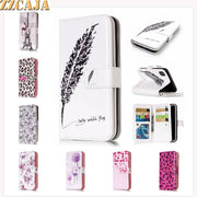 ZZCAJA Shell For IPhone XS Max Case Luxury Cute Flowers Animals Dog 9 Card Slot Leather Flip Wallet Cover For IPhone XR Fundas