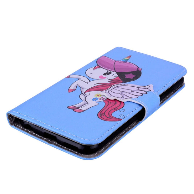 ZZCAJA Wallet Case For Huawei Honor Play 8X 8C Shell Luxury Cute Animal PU Leather Flip Mirror Cover For Honor 10 Lite 7C Fundas
