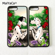 Cartoon Dalmatians Couple BFF Best Friends Love Pair Soft Phone Cases For IPhone 5s Se 6 6s Plus 7 7plus 8 8plus X XR XS MAX