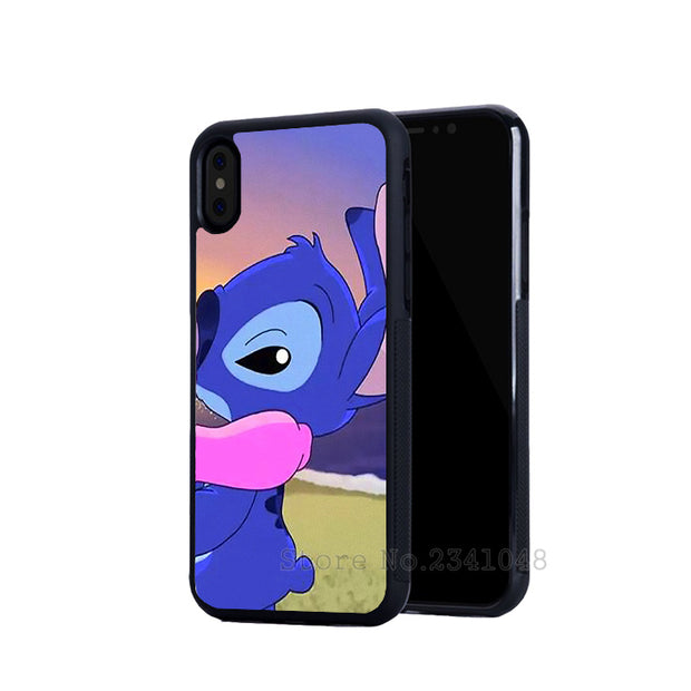 Cartoon Stitch And Angel BFF Best Friends Love Pair Soft TPU Phone Cases For IPhone 5s Se 6 6s Plus 7 7plus 8 8plus X XR XS MAX