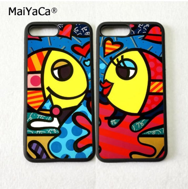 Colorful Fish Loves BFF Best Friends Soft Mobile Phone Cases For IPhone 5s Se 6 6s Plus 7 7plus 8 8plus X XR XS MAX Cover Case