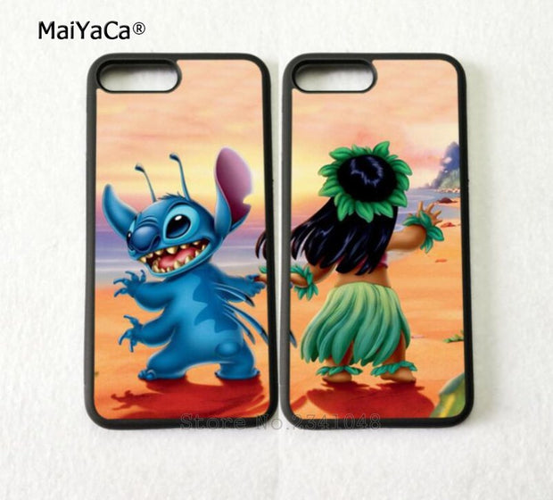 Cute Cartoon Best Friends Love Pair Silicone Phone Cases For IPhone 5s Se 6 6s Plus 7 7plus 8 8plus X XR XS MAX Cover Case