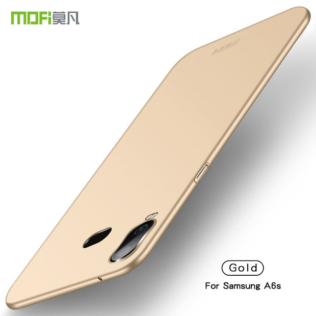 For Samsung Galaxy A6S Case Original MOFi Brand 360 Degree Full Cover Luxury PC Protective Back Cover Case For Galaxy A6S