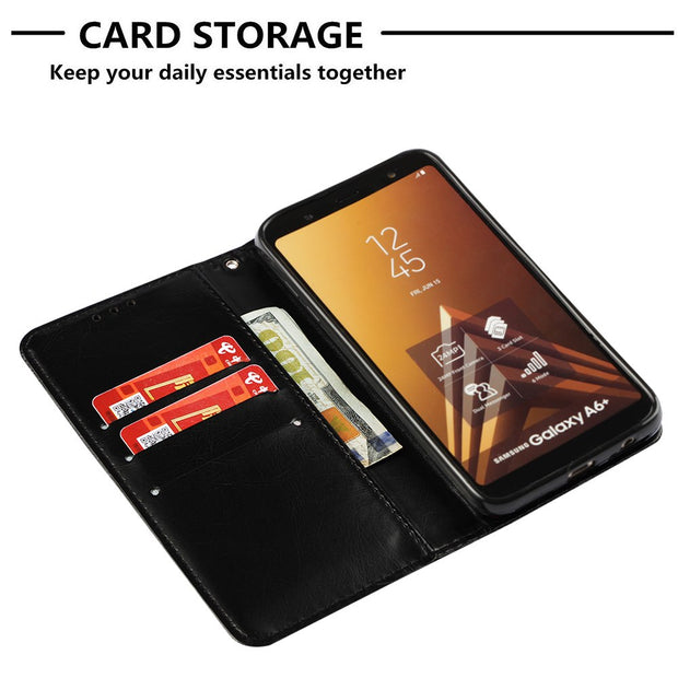 For Samsung Galaxy J6 Plus 2018 Case Flip PU Leather Stand Wallet Style Back Cover For Samsung J6 J4 J7 J8 A7 A6 Plus 2018 Capa