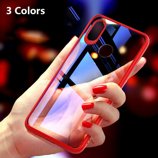 For Xiaomi 8 Case Hard PC + Soft Silicone Back Cover For Mi8 Cases Phone Case On Mi 8 Phone Cover Coque For Xiaomi8 6.21 Inch