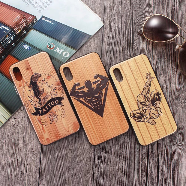 For Iphone X Case Original 7 Plus 8 Plus Back Cover 3D Relief Hard PC Full Protective Phone Cases For Iphone 7 8 6 6s Plus Case