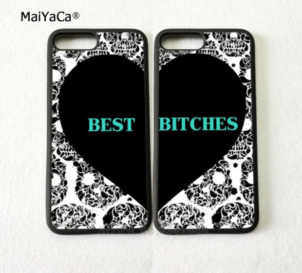 Heart Pair Matching Best Friends Forever Soft Silicone Mobile Phone Cases For IPhone 5s Se 6 6s Plus 7 7plus 8 8plus X XR XS MAX