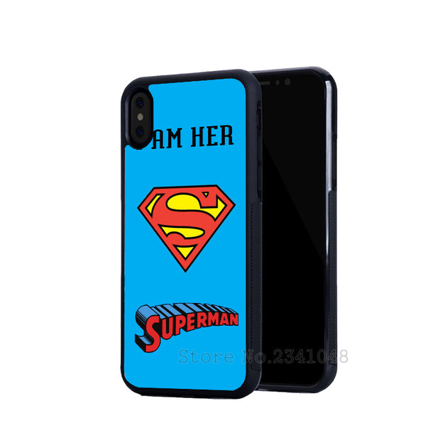 I Am His Superhero Besties BFF Best Friends Soft Phone Cases For Iphone 5s Se 6 6s Plus 7 7plus 8 8plus X XR XS MAX Cover Case