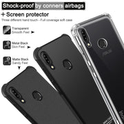 IMak Anti-knock Airbag Case For Asus Zenfone Max M2 ZB633KL Matte Case Soft TPU Cover For ASUS X01BD Case Screen Protector