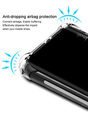 IMak Anti-knock Airbag Case For ZTE Nubia X NX616J Transparent Case Shockproof Soft TPU Cover For ZTE NubiaX Clear Back Case