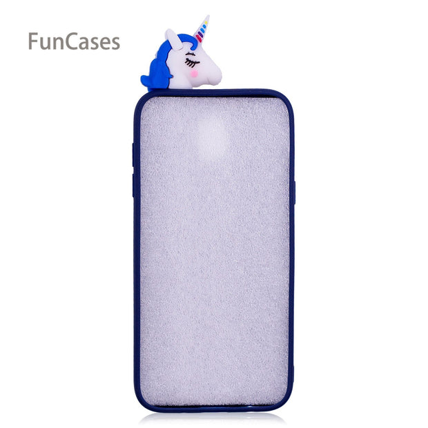 Lovely Unicorn Phone Case For Coque Samsung J730 European Version Soft TPU Ajax Phone Case For Samsung Galaxy J7 2017 EU Version