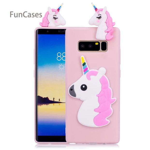 Lovely Unicorn Phone Case SFor Capinha Samsung Note 8 Soft Silicone Phone Case Case Unicorn Phone Case For Samsung Galaxy Note 8