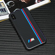 Luxury Tpu+Tempered Glass Bmw Series Phone Case For Iphone X XR XS Max 7 6 6S 8 Plus Cases